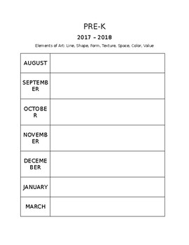 Editable Yearly Planning Chart