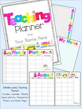 Editable Yearly Teaching Binder