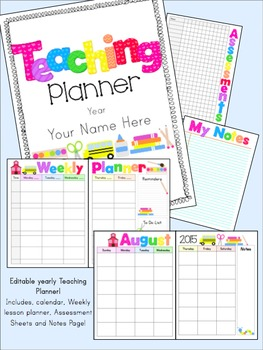 Editable Yearly Teaching Binder