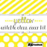 Editable Yellow Color Scheme Class Decor Kit