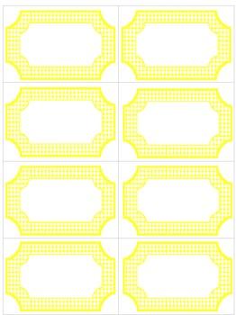Editable Yellow & White Polka Dot Labels