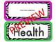 Editable Zebra Labels