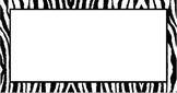 Editable Zebra Labels For the Classroom