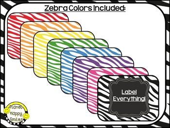 "Editable Zebra Labels ~ Labels for ""Lock Top Snack Containers"" from Dollar Tree"