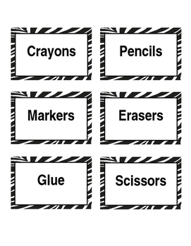 Editable Zebra Labels and Tags