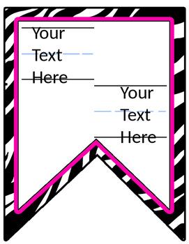 Editable Zebra Pink Alphabet Banner DIY 2 slides