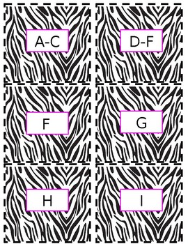 Editable Zebra Print Labels