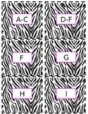 Editable Zebra Print Labels