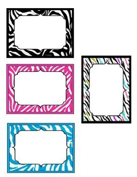 Editable Zebra Tags