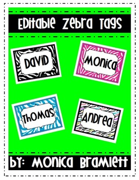 Editable Zebra Tags