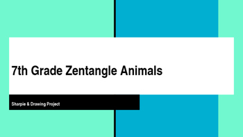 Editable Zentangle Animal Lesson Plan PowerPoint with Step