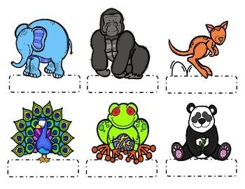 Editable Zoo Animal Name Tags