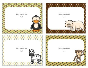 Editable Zoo Labels and classroom decor
