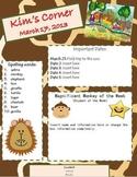 Editable Zoo Theme Classroom Newsletter
