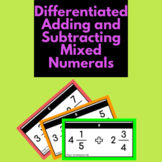 Editable adding and subtracting mixed numerals questions