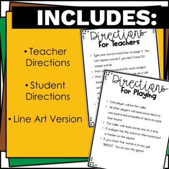 Bingo - An Editable Sight Word Game for Elementary Students Low Prep
