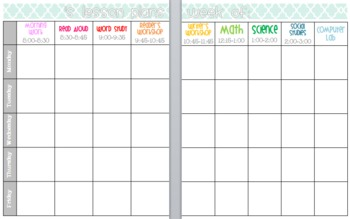 Editable and Customizable Lesson Plan Template... by elementary ...