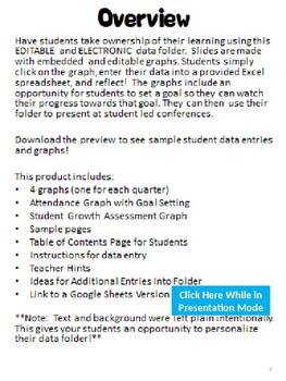 Data Folder | Editable and Electronic