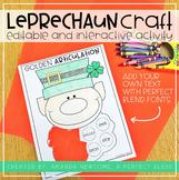 Editable and Interactive Leprechaun Craft