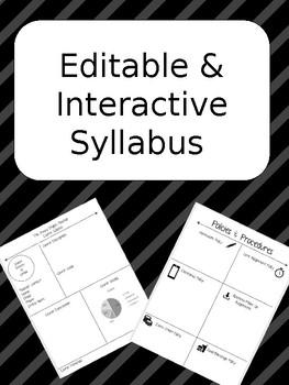Editable and Interactive Syllabus