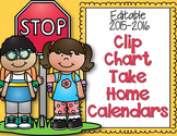 Editable Clip Chart Behavior Take Home Calendars for 2015-2016
