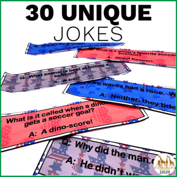 Editable and Personalized Bookmarks for Students for July with Jokes