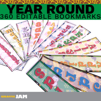 Editable and Personalized Student Bookmarks for Classroom Rewards and Gifts