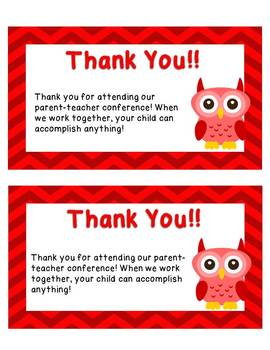 Editable and Pre-made Thank you notes for Parents! Owl Theme!!