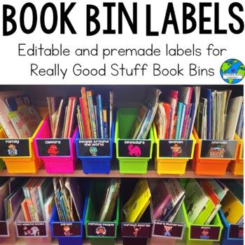 Editable and Premade Book Bins: Fit Really Good Stuff Book Bins