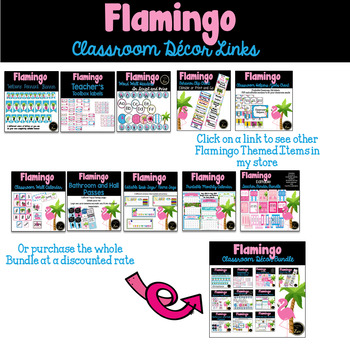 Editable and Print as you Go - TropicaFlamingo Themed Behavior Clip Chart