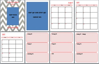 Editable and Printable Lesson Planner and Calendar