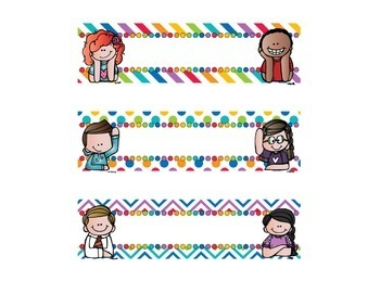 Editable & Ready to Print Drawer Labels Rainbow Brights with Kids Bundle