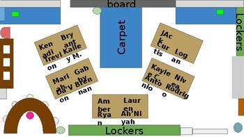 Editable and Reusable Assigned Seating Chart