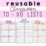 Editable and Reusable To Do Lists