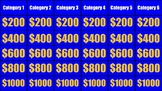Editable (and linked!)  Jeopardy Template: Google Slides