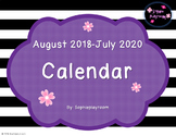 Editable and pdf Monthly Calendar 2018-2020