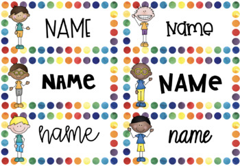 Editable and personalised name tags