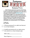 Editable back to school Instagram Photo Release Form