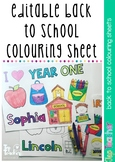 Editable back to school colouring in