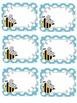 Editable bee name tags