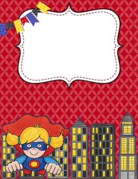 Teacher Binder Covers and Spines Super Hero theme (Editable in PowerPoint)