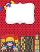 Teacher Binder Covers and Spines Super Hero theme (Editabl