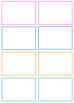 Editable card template