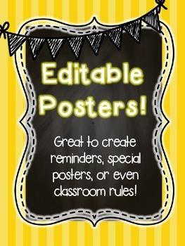 Editable chevron chalk Posters!