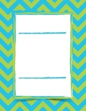 Editable chevron journal covers/posters