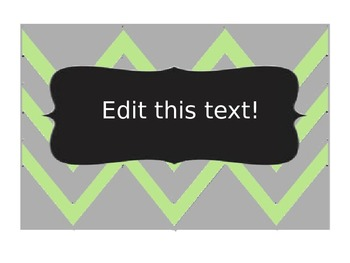 Editable chevron labels -- Green and gray