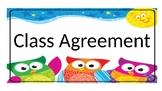 Editable class agreement