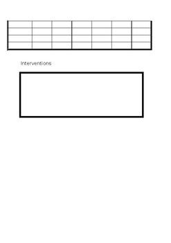 Editable class assessment sheets