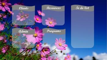 Editable desktop background organiser