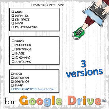 "Editable digital WORD JOURNAL for Google Slides™ - ""GRUNGE"""